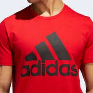 adidas Men's Badge Of Sport Graphic RED T-Shirt